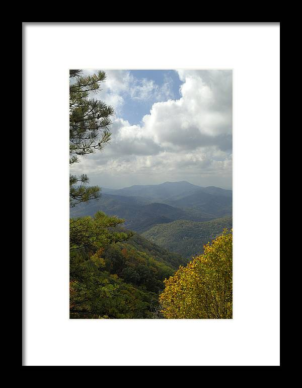 Scenic Framed Print featuring the photograph Cherohala Skyway In Autumn Color by Darrell Young