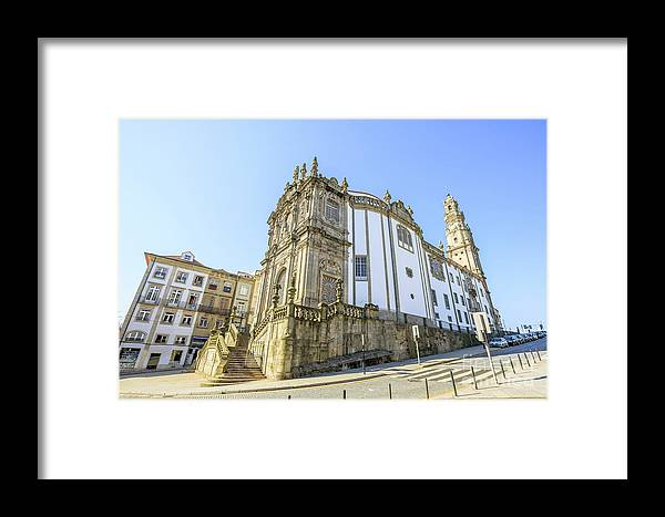 Porto Framed Print featuring the photograph Church Of Clerigos Porto by Benny Marty