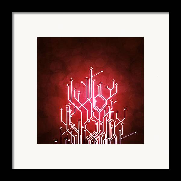 Abstract Framed Print featuring the photograph Circuit Board by Setsiri Silapasuwanchai