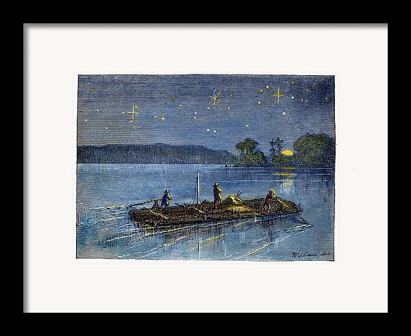 1876 Framed Print featuring the photograph Clemens: Tom Sawyer by Granger