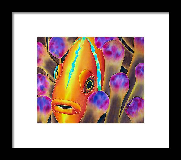 Jean-baptiste Design Framed Print featuring the painting Clown Fish by Daniel Jean-Baptiste