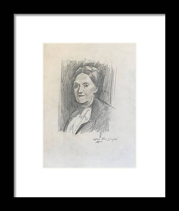 Framed Print featuring the drawing Copy Of Sargent by Alejandro Lopez-Tasso