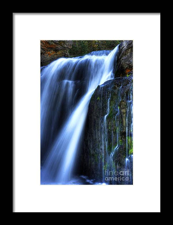 Places Framed Print featuring the photograph Crayfish Falls by Dennis Hammer