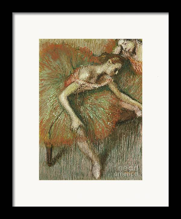 Dancers Framed Print featuring the painting Dancers by Edgar Degas