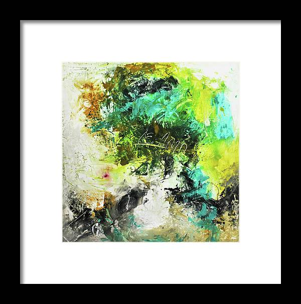 Abstract Framed Print featuring the painting Deep Love by Ivan Guaderrama