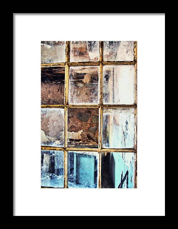 Eastern Framed Print featuring the photograph Blue Window Panes by JAMART Photography