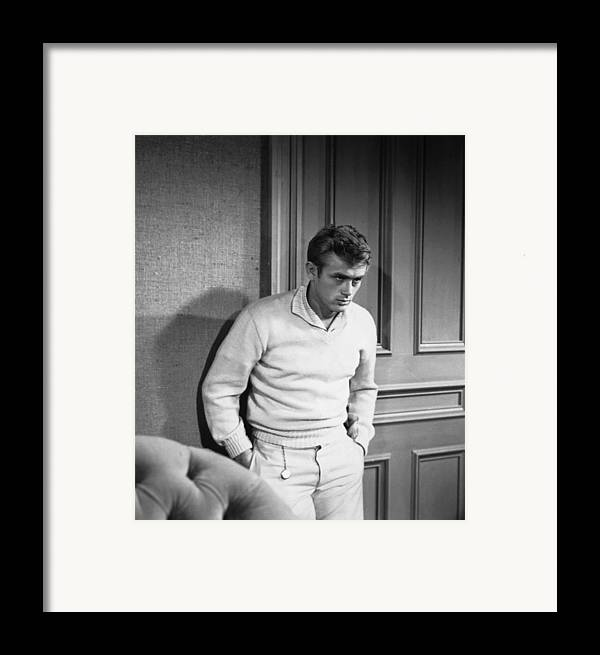 1950s Portraits Framed Print featuring the photograph East Of Eden, James Dean, 1955 by Everett