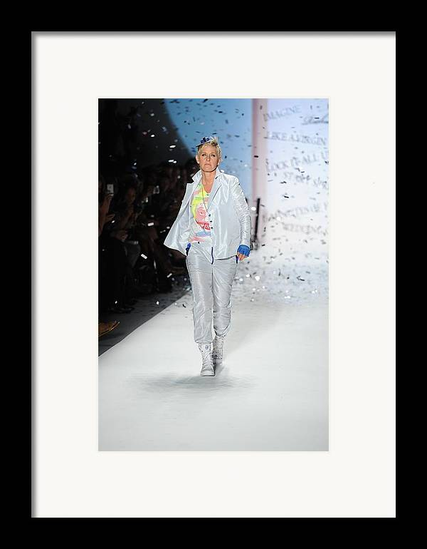 Ellen Degeneres Framed Print featuring the photograph Ellen Degeneres In Attendance by Everett