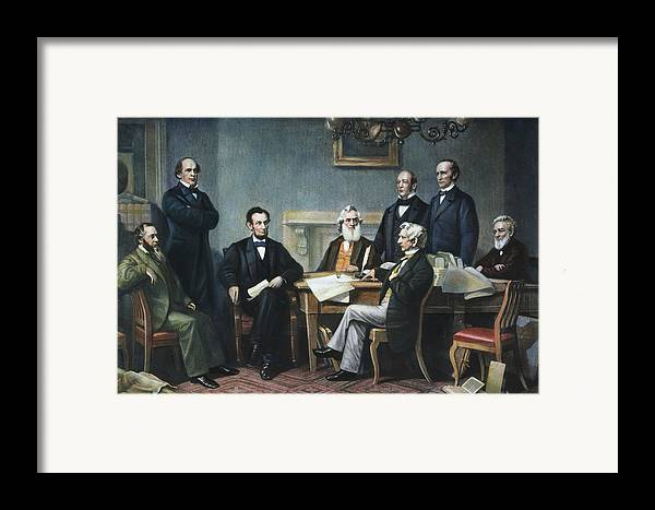 1862 Framed Print featuring the photograph Emancipation Proclamation by Granger