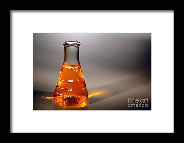 Scientific Framed Print featuring the photograph Equipment In Science Research Lab by Olivier Le Queinec