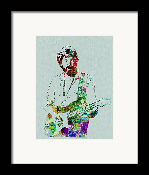 Framed Print featuring the painting Eric Clapton by Naxart Studio
