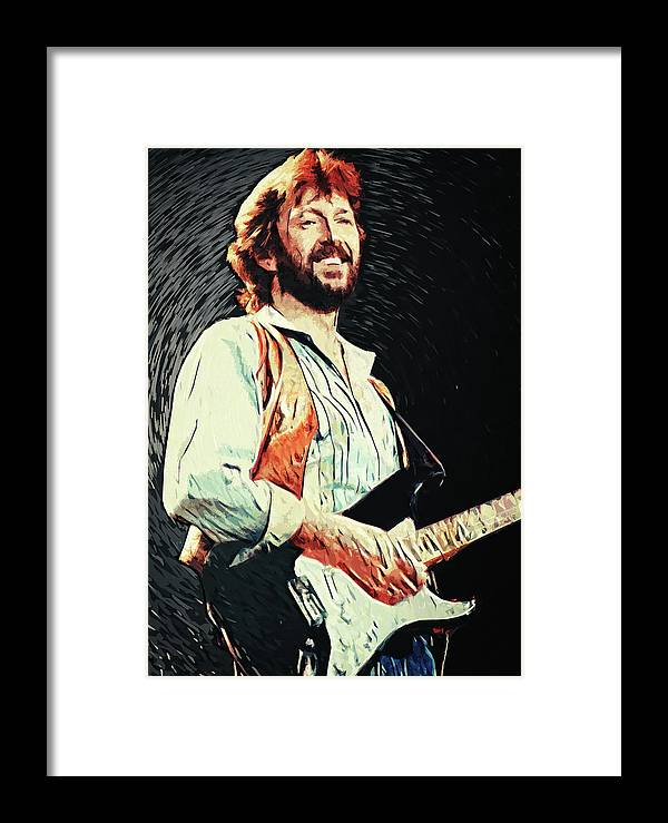 Eric Clapton Framed Print featuring the digital art Eric Clapton by Zapista Zapista