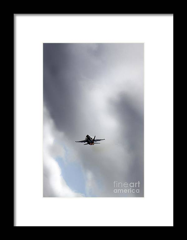 Aircraft Framed Print featuring the photograph F18 by Angel Ciesniarska