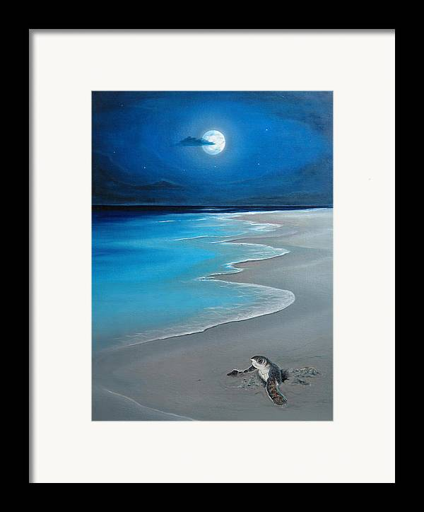Seascape Art Framed Print featuring the painting First Born by Angel Ortiz