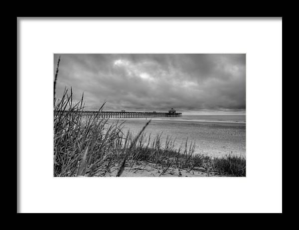 Folly Beach Framed Print featuring the photograph Folly Beach Pier by Dustin K Ryan