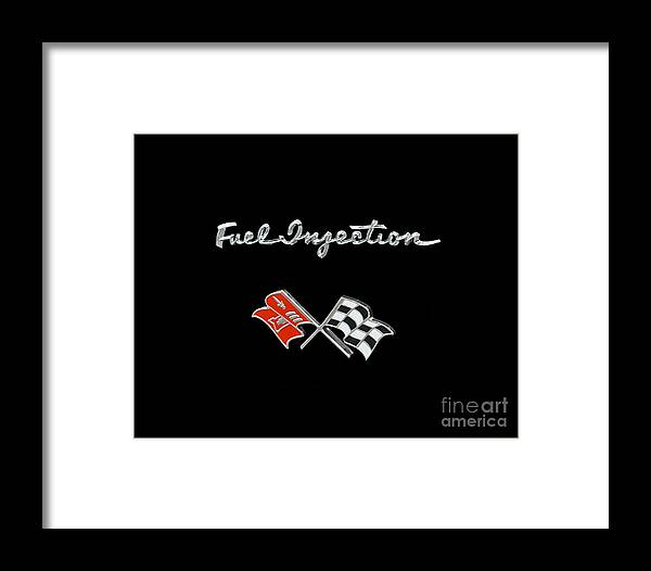 Covette Framed Print featuring the photograph Fuel Injection by Dennis Hedberg
