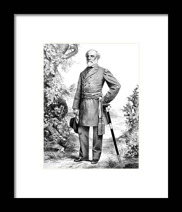 Robert E Lee Framed Print featuring the mixed media General Robert E Lee by War Is Hell Store