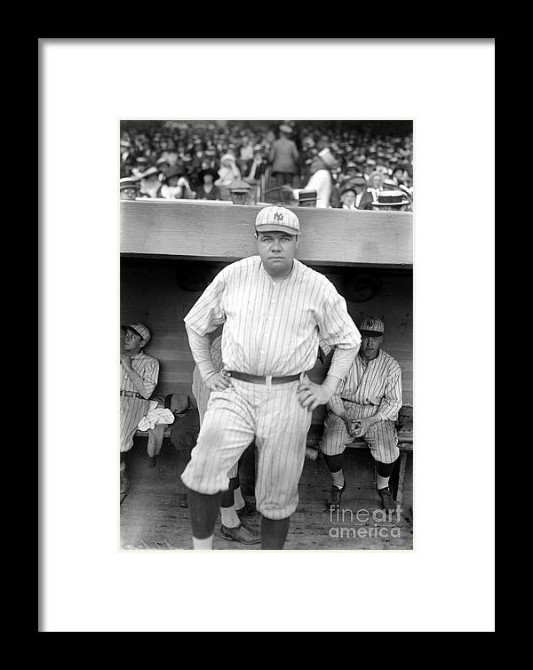 1921 Framed Print featuring the photograph George H. Ruth (1895-1948) by Granger