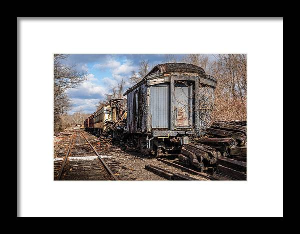 Train Framed Print featuring the photograph Ghost Train by Ray Greyling