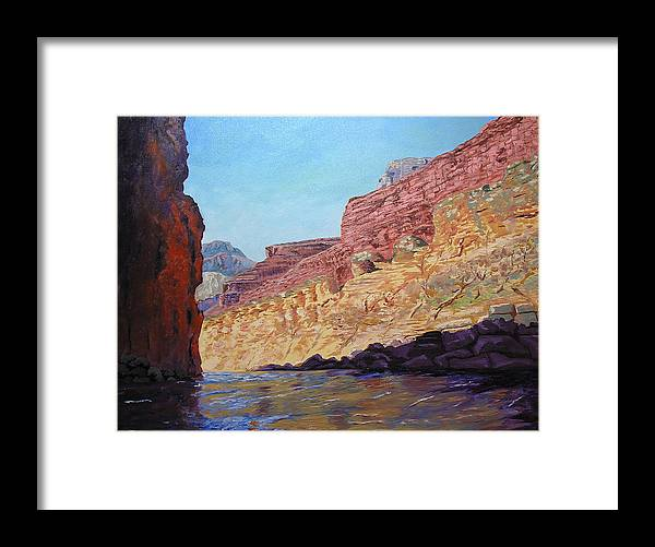 Grand Canyon Framed Print featuring the painting Grand Canyon III by Stan Hamilton