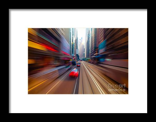 Abstract Background Framed Print featuring the photograph Hong Kong by Perfect Lazybones
