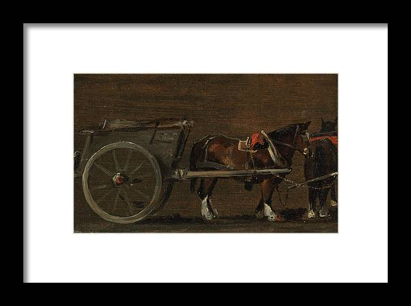 John Constable Framed Print featuring the painting Horse And Cart by John Constable