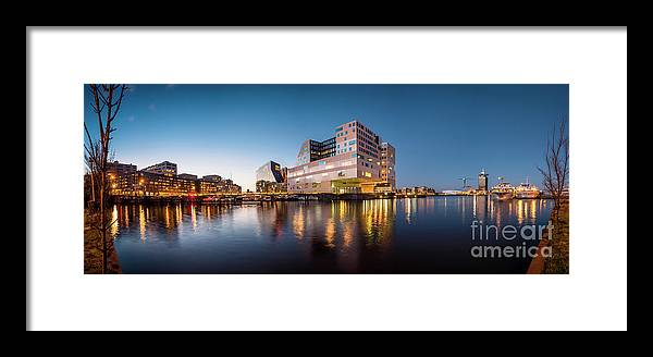 Urban Landscapes Framed Print featuring the photograph Ijdok by Michael Harris