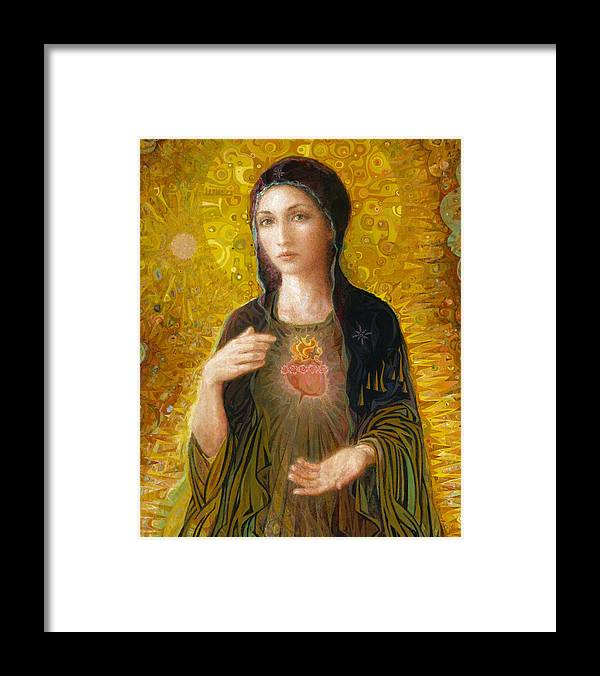 Mary Framed Print featuring the painting Immaculate Heart of Mary by Smith Catholic Art
