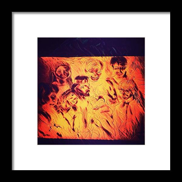 Heaven Framed Print featuring the drawing In Heaven with Jesus by Love Art Wonders By God