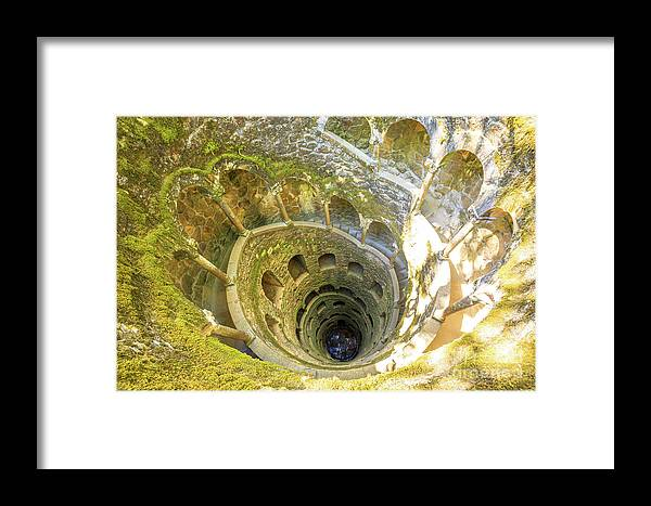 Sintra Framed Print featuring the photograph Initiation Well Sintra by Benny Marty