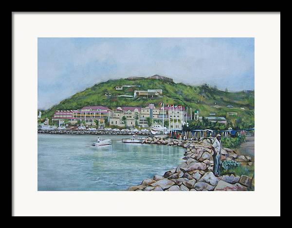 Island Framed Print featuring the painting Isle At St Martin St Maarten by Howard Stroman