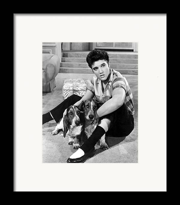 1950s Portraits Framed Print featuring the photograph Jailhouse Rock, Elvis Presley, 1957 by Everett