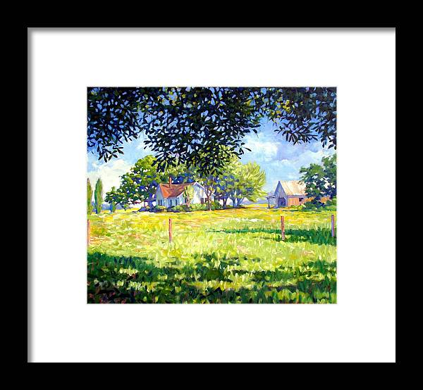 Country Framed Print featuring the painting Jasons House by Kevin Lawrence Leveque