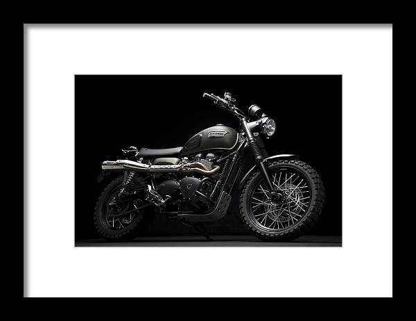 Triumph Framed Print featuring the photograph Jurassic Scrambler by Keith May