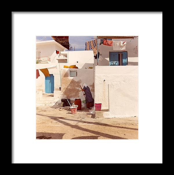 Kalymnos Framed Print featuring the photograph Kalymnos Woman by Andrea Simon
