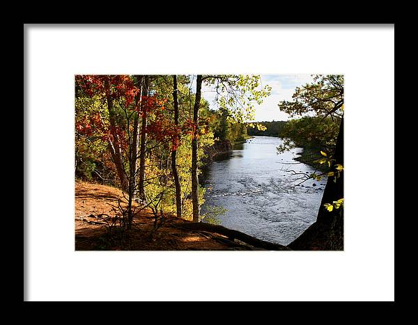 Kettle River Framed Print featuring the photograph Kettle River Overlook by Christopher J Franklin