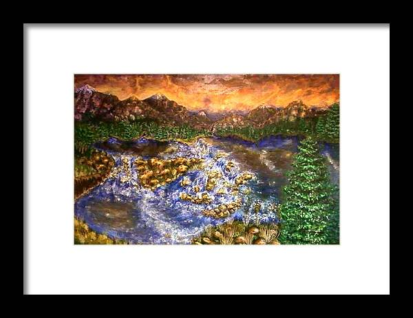 Lake Framed Print featuring the painting Lake Succession by Tanna Lee M Wells