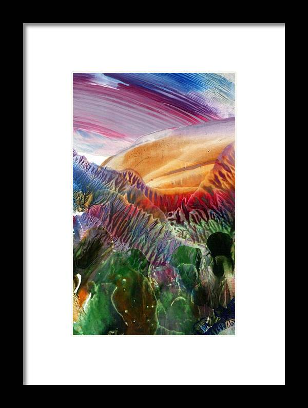 Encaustic Framed Print featuring the painting Landscape by Alla Bechtold