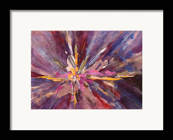 Creation Framed Print featuring the mixed media Let There Be Light by Joan Jones