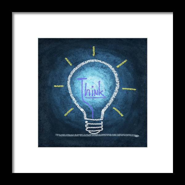 Art Framed Print featuring the photograph Light Bulb Design by Setsiri Silapasuwanchai