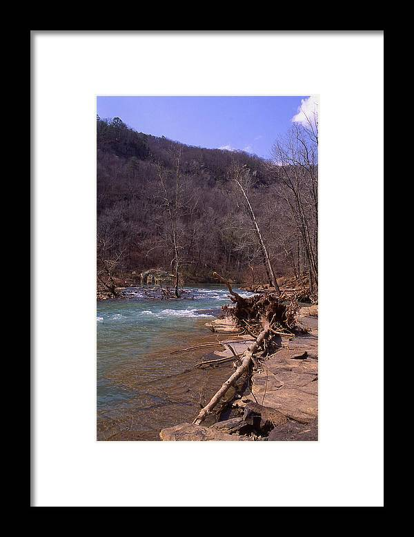 Framed Print featuring the photograph Long Pool Log Jam by Curtis J Neeley Jr