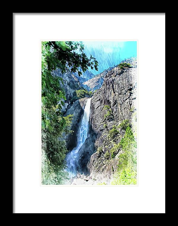 Yosemite Framed Print featuring the photograph Lower Yosemite Falls by Margie Wildblood