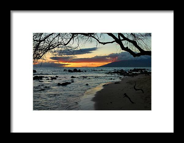 Sunset Framed Print featuring the photograph Maui Sunset by Stephen Vecchiotti