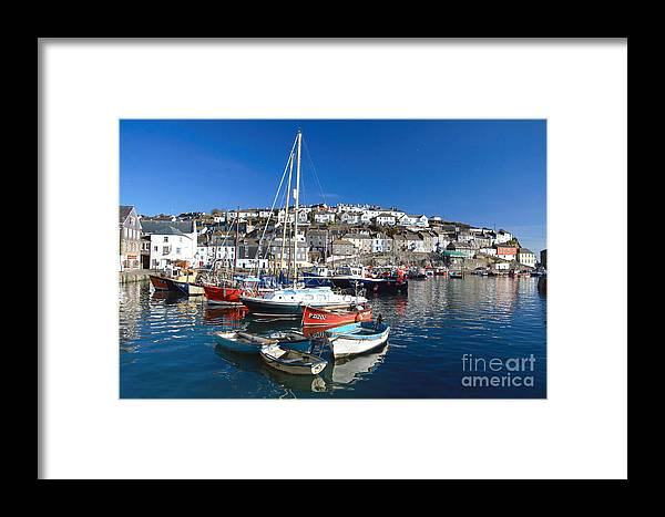 Mevagissey Framed Print featuring the photograph Mevagissey by Carl Whitfield