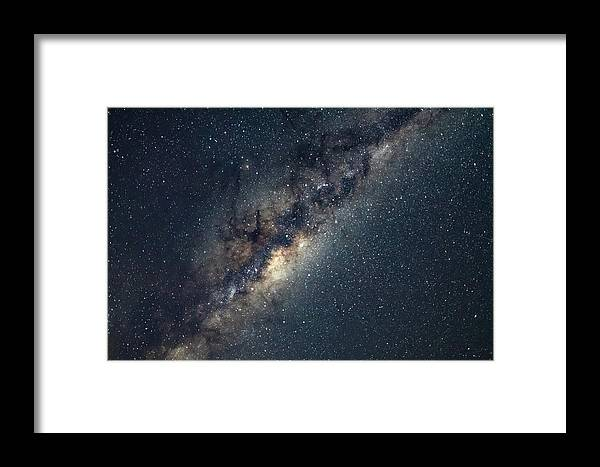 Catherine Hill Bay Framed Print featuring the photograph Milky Way by Merrillie Redden