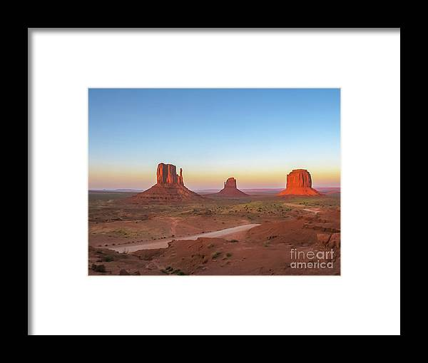 American Framed Print featuring the photograph Monument Valley by Benny Marty