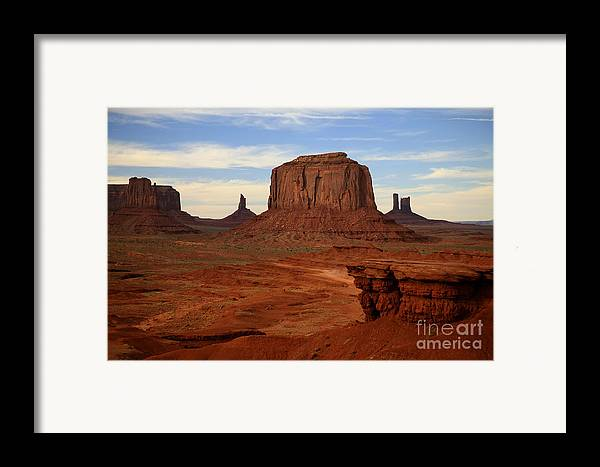 Monument Valley Framed Print featuring the photograph Monument Valley by Timothy Johnson