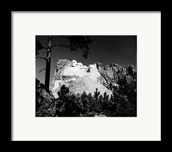 1930s Framed Print featuring the photograph Mount Rushmore by Granger