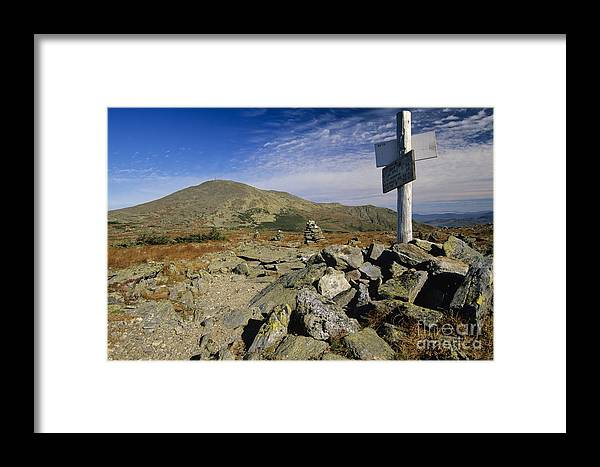 Mount Washington Framed Print featuring the photograph Mount Washington - White Mountains New Hampshire Usa by Erin Paul Donovan