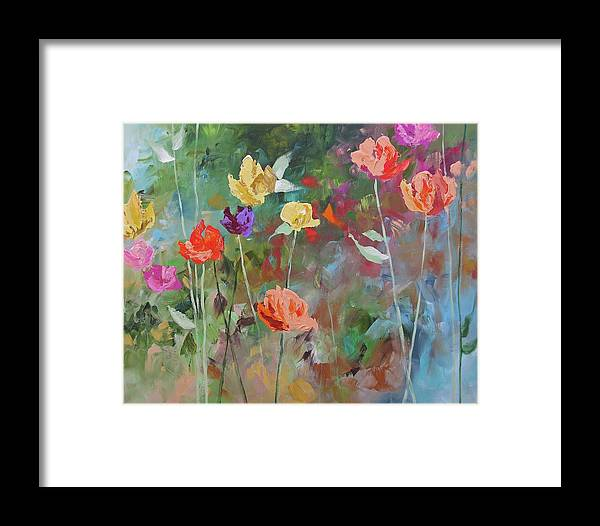 Original Framed Print featuring the painting Mystical by Linda Monfort